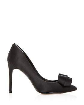 Ted Baker - Women's Skalett Satin Bow Pointed Toe Pumps