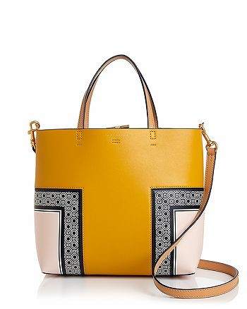 cd7eb57df8d96 Tory Burch - Block T Printed Mini Leather Tote