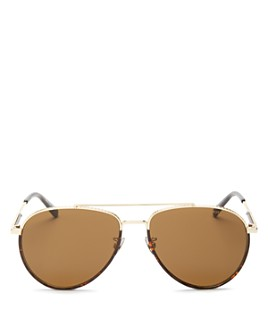 Bottega Veneta - Women's Brow Bar Aviator Sunglasses, 60mm