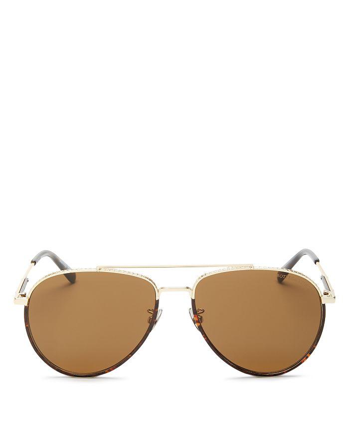 Bottega Veneta - Women's Brow Bar Aviator Sunglasses, 60mm