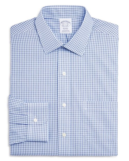 Brooks Brothers - Double Windowpane Regular Fit Dress Shirt