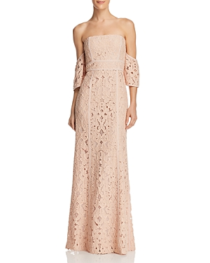 Bcbgmaxazria Off-the-Shoulder Gown