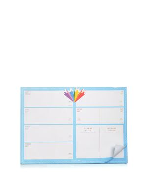 SKINNYDIP LONDON Nahh Planner Notepad in Blue Multi