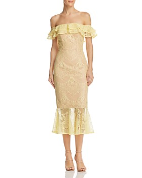 Jarlo - Toril Off-the-Shoulder Lace Dress