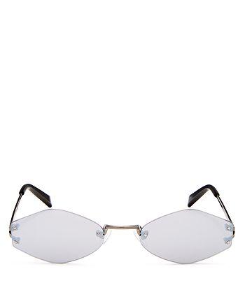 Kendall + Kylie - Women's Kye Mirrored Round Sunglasses, 51mm