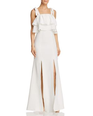 C/MEO COLLECTIVE BE ABOUT YOU TIERED-RUFFLE GOWN
