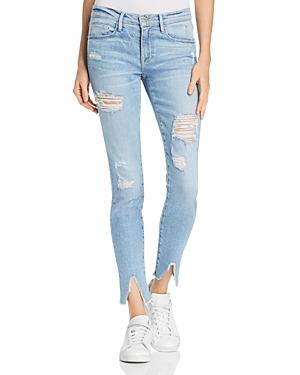 Frame Le Skinny De Jeanne Split Hem Skinny Jeans in Highgate