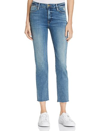 FRAME - Le High Raw Edge Straight Jeans in Roxton