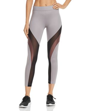 KORAL Frame High-Rise Color-Block Leggings in Chromium/ Marsala