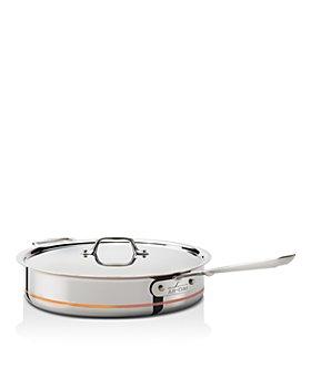 All-Clad - Copper Core 5-Quart Copper Core Saute Pan with Lid