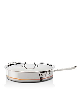 All-Clad - Copper Core 5-Quart Copper Core Saute Pan with Lid