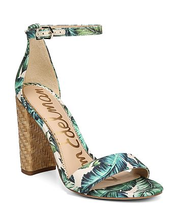 81e229c2a55 Sam Edelman - Women s Yaro Palm Print Block-Heel Sandals
