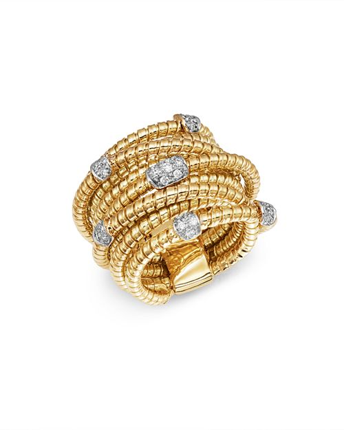 Bloomingdale's - Diamond Coil Wide Statement Ring in 14K Yellow Gold, 0.30 ct. t.w. - 100% Exclusive