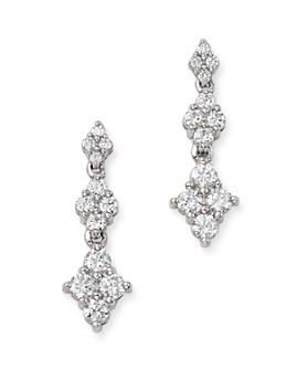 Bloomingdale's - Diamond Graduated Cluster Drop Earrings in 14K White Gold, 1.0 ct. t.w. - 100% Exclusive