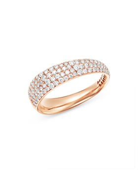 Roberto Coin - 18K Rose Gold Scalare Pavé Diamond Ring