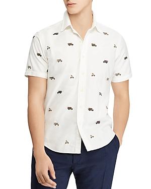 Polo Ralph Lauren Camp Print Classic Fit Button-Down Shirt