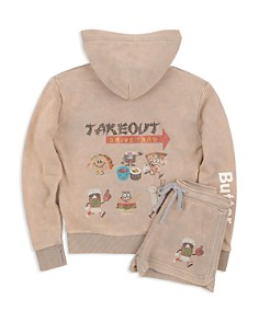 Butter Girls' Takeout Appliqué Hoodie & Shorts - Big Kid - Bloomingdale's_0