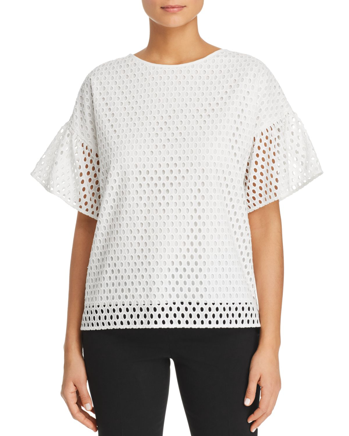 Ilofia Eyelet Cotton Top by Boss