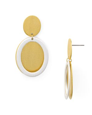Stephanie Kantis Icon Double Disc Drop Earrings