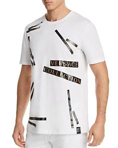 Versace Logo Tape Crewneck Tee - Bloomingdale's_0