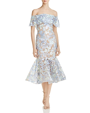 Bronx And Banco BUTTERFLY OFF-THE-SHOULDER DRESS