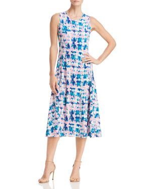 Sleeveless Tie-Dye Print Midi Dress, Sea Glass from DKNY