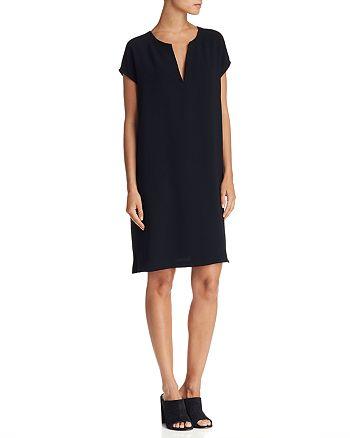 Theory - Saturnina Split-Neck Shift Dress