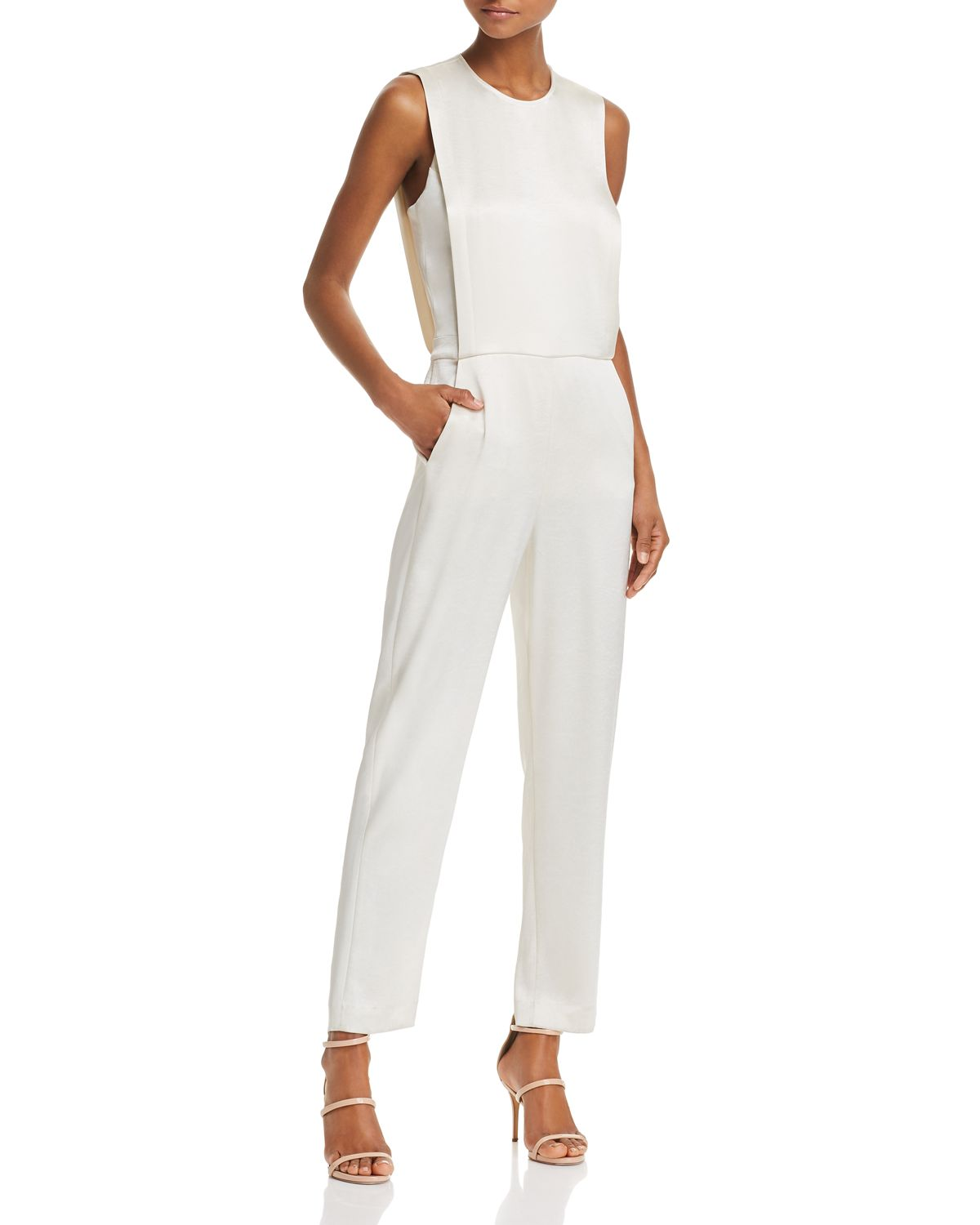 Remaline Pinafore Sateen Jumpsuit by Theory