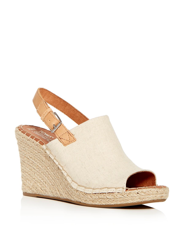 TOMS Women's Monica Hemp Espadrille Platform Wedge Sandals BcVPA9sTY