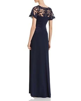 Tadashi Shoji - Lace-Overlay Crepe Gown