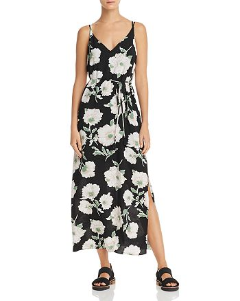 AQUA - Floral Print Crisscross Maxi Dress - 100% Exclusive