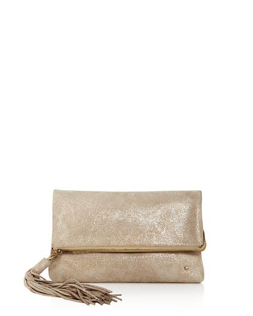 HALSTON HERITAGE - Christie Leather Foldover Clutch