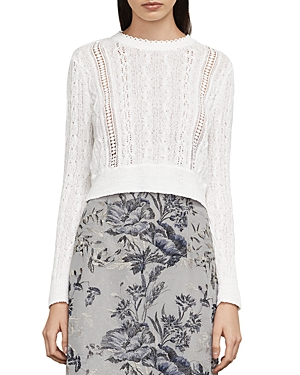 Bcbgmaxazria Caleste Lace-Inset Cable-Knit Sweater