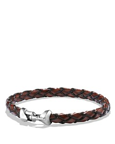 David Yurman - Armory Leather Bracelet in Brown