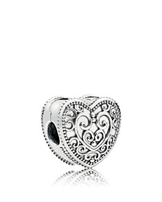PANDORA Sterling Silver Enchantment Heart Clip - Bloomingdale's_0