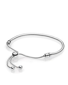 Pandora - Sterling Silver & Cubic Zirconia Signature Sliding Bolo Bracelet