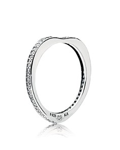 PANDORA Sterling Silver & Cubic Zirconia Arc of Love Ring - Bloomingdale's_0
