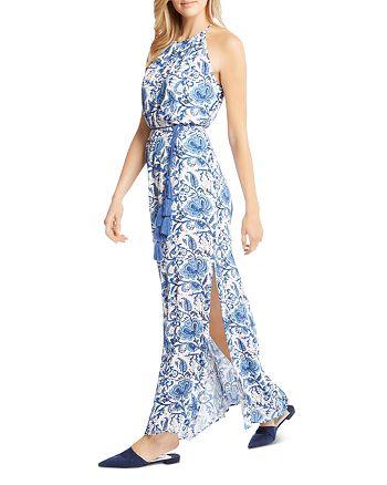 782eba10533 Karen Kane - Floral-Print Side-Slit Maxi Dress