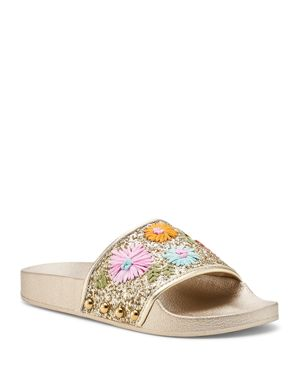WOMEN'S DAISY POOL SLIDE SANDALS