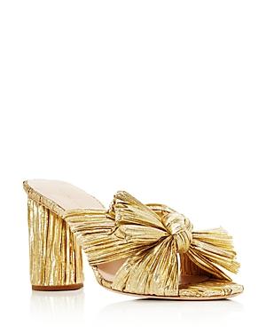 Women's Penny Pleated High Heel Slide Sandals