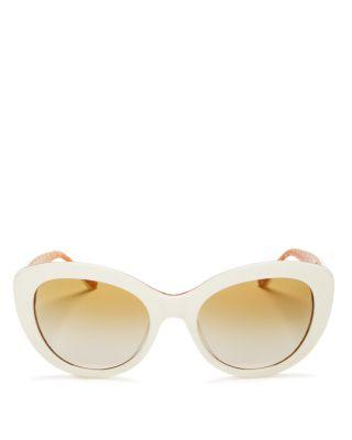 Women's Mirrored Gradient Cat Eye Sunglasses, 55mm by Tory Burch