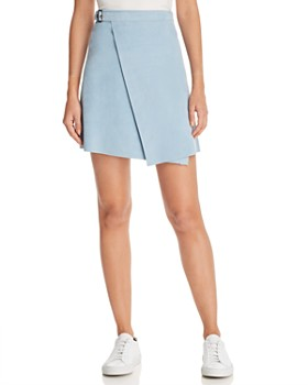 Theory - Suede Wrap Mini Skirt
