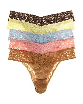 Hanky Panky - Signature Original-Rise Thongs, Set of 5