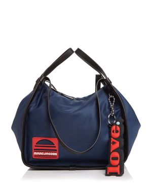 SPORT NYLON AND LEATHER TOTE