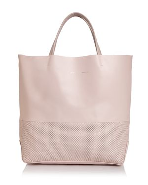 MEDIUM PERFORATED LEATHER TOTE