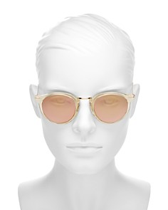 Illesteva - Women's Portofino Mirrored Round Sunglasses, 48mm