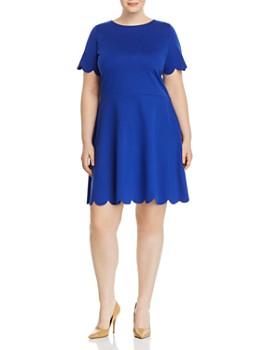 Love Ady Plus - Scallop-Trimmed Dress