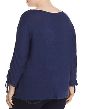 Cupio Plus - Lace-Trimmed Top