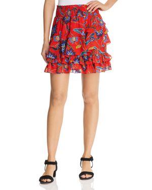 Rebecca Minkoff Lila Tiered Floral Skirt