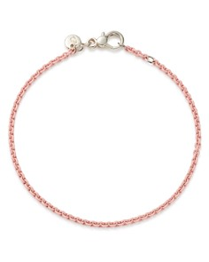 Dodo - Sterling Silver Chain Bracelet in Pastel Rose